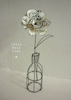 wire and paper flower