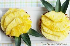 Pineapple Coconut Tarts!  Paradise on a plate!  : )