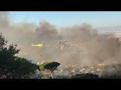 People have took to social media in panic after they witnessed a fire break out on Table Mountain on Friday evening.