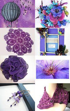 --Pinned with TreasuryPin.com  Thanks @cardsbyjane for including me in this wonderful purple @Etsy Treasury!   #onfireteam