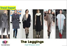 Dress Over Leggings #Fashion Trend for Fall Winter 2014 #Trends #Fall2014 #FW2014