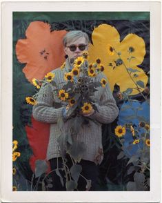 Andy With Sunflowers RETRATOS