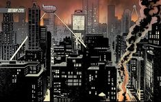 Gotham City is the home of Batman. Batman's place of residence was first identified as Gotham. Gotham Comics, Dc Comics, Cityscape Drawing, City Drawing, Gotham City Map, Batman City, Batman 2, Gotham News, Penguin Gotham
