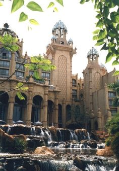 Waterfalls at the Palace, Sun City, South Africa