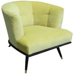 Sculptural Italian Style Barrel Back Chair in Green Velvet