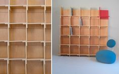 By yourshelf, wood version shelves, by Stone Designs, 2007 #StoneDesigns