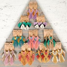 Fringe Earrings Macrame Jewelry // String Earrings, Woven Earrings, Bohemian Fiber Art, Handmade Lightweight Boho Textile Jewelry Jewelry - The Effective Pictures We Offer You About diy face mask A quality picture can tell you many things - Macrame Art, Macrame Design, Macrame Projects, Macrame Jewelry, Bohemian Jewelry, Art Projects, Jewlery, Fiber Art Jewelry, Textile Jewelry