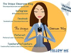 The Unique Classroom Blog~  special education teacher in a learning support classroom.