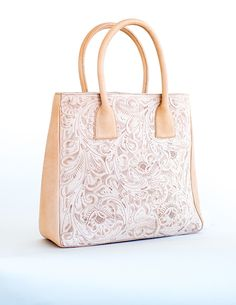 e99097641337 Check out the deal on Juan Antonio Natural Tooled Leather Tote at Western  Passion Tooled Leather