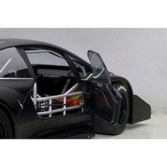 2013 Peugeot 208 T16 Pikes Peak Race Car Plain Black Version 1/18 Model Car by Autoart