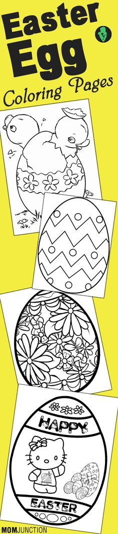 25 Amazing Easter Egg Coloring Pages Your Toddler Will Love To Color