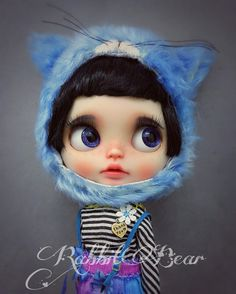 """Ooak Custom Blythe Doll """"blueberry"""" with translucent skin by Rabbit"""