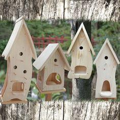 Vogelhaus Nistkasten-Bausatz-Vogelvilla-zum selbst bemalen-Insektenhotel-Deko!!! | eBay