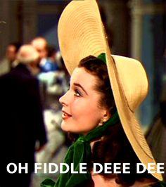 oh fiddle dee dee! #gonewiththewind #scarlettohara