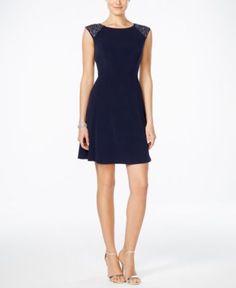 Jessica Howard Studded A-Line Dress   macys.com