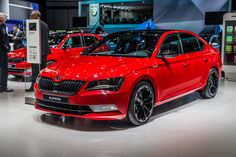 With the exception of the respective base petrol and diesel drivetrains, the ŠKODA #Superb #SportLine will be available with all the current Superb engines #Geneva2016