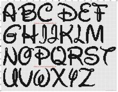 Disney Alphabet 30x30 stitches cross stitch pattern free (click to view)
