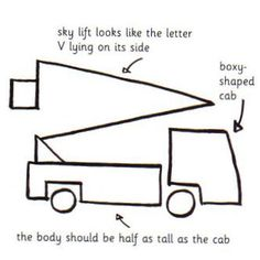 how to draw a firetruck and other trucks