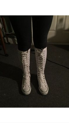 9c690cc4bac20 74 Best My collection of knee high converse mostly white knee high ...