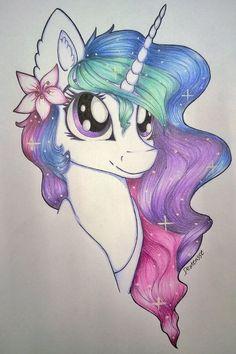 my little pony,Princess Celestia, art,mlp art Watercolor Unicorn, Unicorn Drawing, Unicorn Art, Cute Unicorn, My Little Pony Unicorn, Unicorn Decor, Unicorn Bedroom, Unicorn Crafts, Rainbow Unicorn
