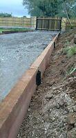 2 Tier Straight Timber Railway Sleeper Driveway Path Pathway Edge Edging Bracket | eBay Driveway Edging, Path Edging, Railway Sleepers, Wood Screws, Pathways, Garden Bridge, Planters, Outdoor Structures, Ebay