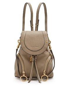 a0cf9b9bb2b4 See By Chloé Olga grained-leather backpack Faux Leather Backpack