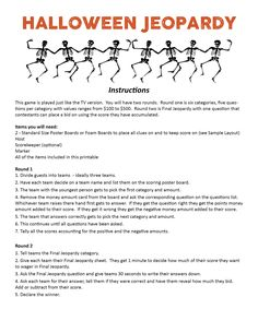 Critical image with halloween trivia questions and answers free printable
