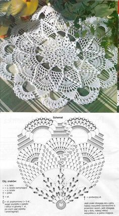New Ideas For Crochet Doilies Beginner Filet Crochet, Crochet Doily Diagram, Crochet Doily Patterns, Crochet Chart, Thread Crochet, Crochet Motif, Irish Crochet, Crochet Designs, Crochet Stitches