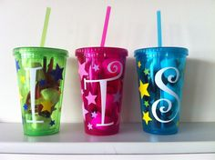 Personalised Cup/Tumbler with Straw - The Supermums Craft Fair