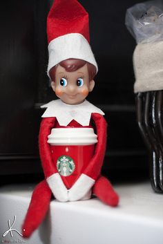 Elf on the Shelf makes Starbucks runs?  Sign me up!!!
