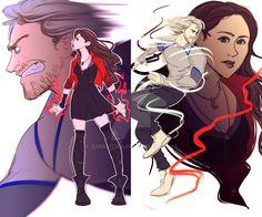 AvengersAOU: Scarlet and Quicksilver by DarkLitria.deviantart.com on @DeviantArt