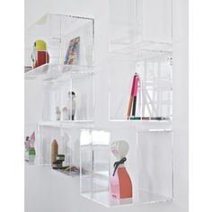 plexi boxes protruding from wall- maybe hang fiber art with thread and display found objects below??