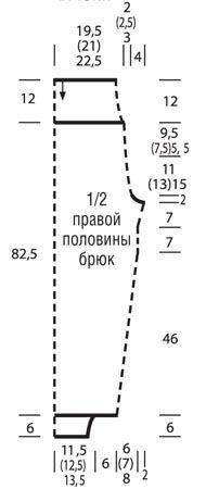 Брюки в спортивном стиле - схема вязания спицами. Вяжем Брюки на Verena.ru