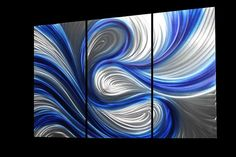 Flowy Abstract Metal Art