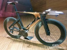 Photo: Peugeot Cycle's copper-plated Onyx TT bike prototype If the Naboo Royal Cruiser (the silver ship in Star Wars) were made into a bike...