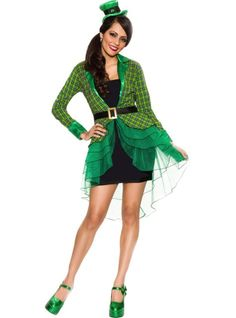 Leprechaun costume for me & Possibly a rainbow girl for my little lady? Party City you will be seeing me this week!! :)