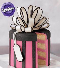 Gift Box Fondant Cake tutorial