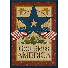 God Bless Barn Star Double Sided Garden Flag