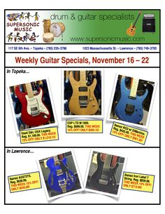 November's Weekly Guitar Specials, 11/16-11/22.