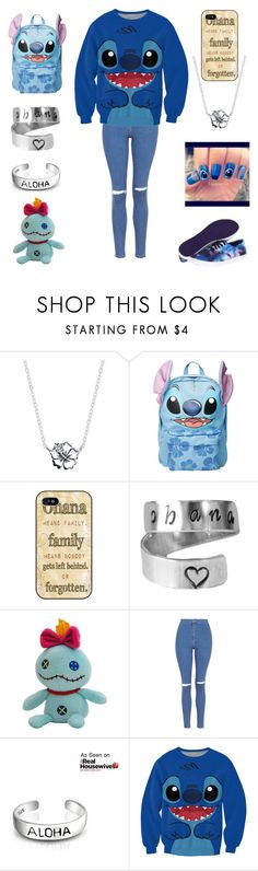 """""""Ohana"""" by alicia-brockett ❤ liked on Polyvore featuring Disney, Topshop, Bling Jewelry and Vans"""