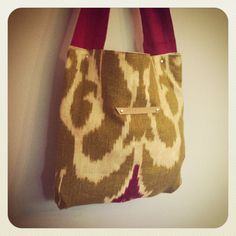 remnant tote // ikat print // reworked upholstery by ardenandjames, $50.00