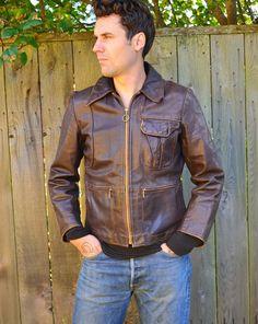 Steve MacQueen Mod Leather Cafe Racer Jacket