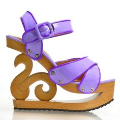 Show Story Peep Toe Ankle Strap Wooden Wedge Platform Clogs Sandals Pump,LF11803 - [UK & IRELAND] Now On Sale: £19.99 Was £49.99