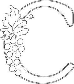 Wednesday Wine Country Monograms -- C