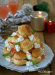 Gourmet Appetizers, Finger Food Appetizers, Holiday Appetizers, Appetizer Recipes, Profiteroles, Tapas, Antipasto, Cooking Chef, Cooking Recipes