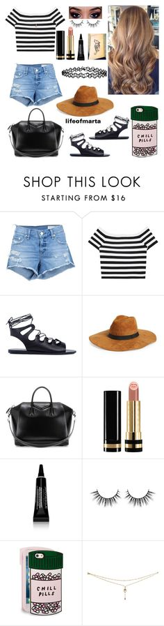 """Don't let me down~The Chainsmokers ft. Daya"" by lifeofmarta ❤ liked on Polyvore featuring rag & bone/JEAN, Alice + Olivia, Ancient Greek Sandals, Givenchy, Gucci, Japonesque, ban.do and Accessorize"