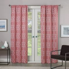 eclipse Paloma Thermaweave Blackout Curtain, Pink