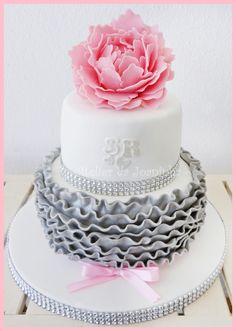 Pink & Silver — Round Wedding Cakes