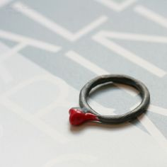 T18 Red Organic Love Ring on Etsy, $66.00