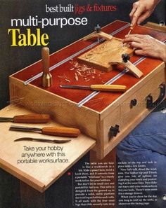 #820 Carving Table Plans - Wood Carving Patterns and Techniques
